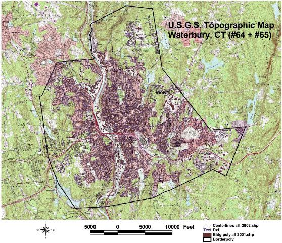Topographic Map Ct.City Of Waterbury Gis